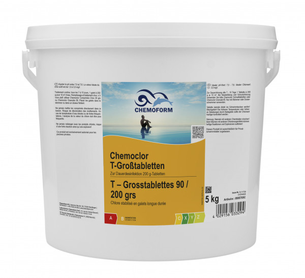 Chlor Langzeit-Tabletten 200g, 5 kg Eimer