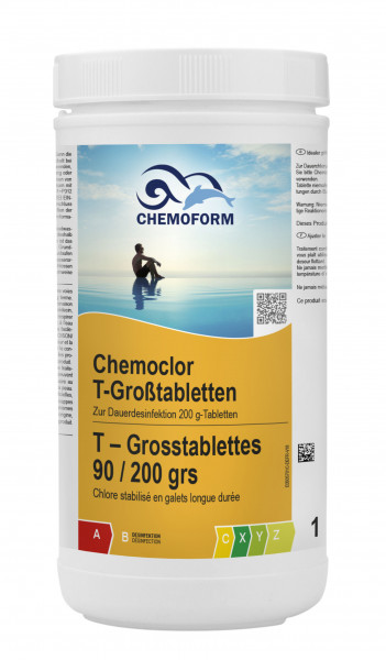Chlor Langzeit-Tabletten 200g, 1 kg Dose