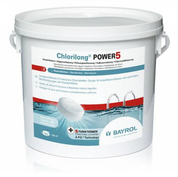 Chlorilong Power5-Tabletten 250g - 5kg-Eimer